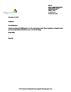 Argonne Letter Latex Template